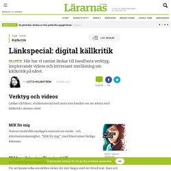 Länkspecial: digital källkritik