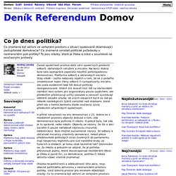 Ondřej Lánský: Co je dnes politika?