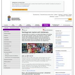 Verktyg mot rasism och intolerans - Länsstyrelsen Västernorrland