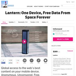 Lantern: One Device, Free Data From Space Forever