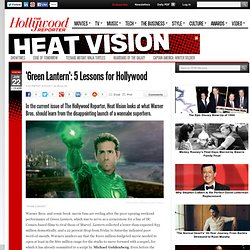 'Green Lantern': 5 Lessons for Hollywood