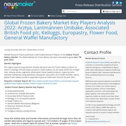Global Frozen Bakery Market Key Players Analysis 2022: Arztya, Lantmannen Unibake, Associated British Food plc, Kelloggs, Europastry, Flower Food, General Waffel Manufactory