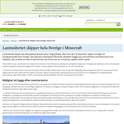 Lantmäteriet släpper hela Sverige i Minecraft - Lantmäteriet