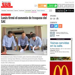 Lanús firmó el convenio de traspaso del SAE