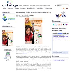 Lanzamiento de Catálogo de Software Educativo Libre