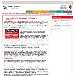 Lanzamiento Estrategia Recursos Educativos Digitales