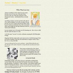 Lao-tzu Biography