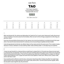 Lao-Tzu's Tao: Universal Dialectic