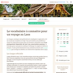 Laos: Vocabulaire de survie
