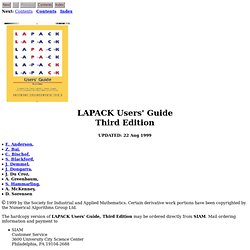 LAPACK Users Guide