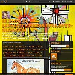 vidéo 2952 : Comment apprendre à dessiner et à peindre un cheval 2 (Le corps) - Techniques simplifiées et tutos. - Le blog de lapalettedecouleurs.over-blog.com