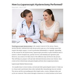 How is a Laparoscopic Hysterectomy Performed?
