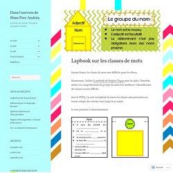 Lapbook sur les classes de mots – Dans l'univers de Mme Pier-Andréa