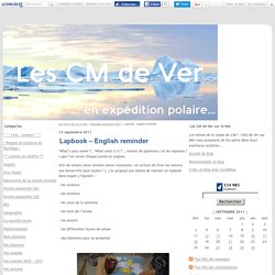 Lapbook – English reminder - Les CM de Ver sur le Net
