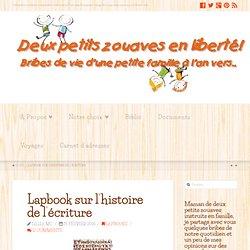 Lapbook sur l'histoire de l'écriture