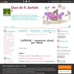 Lapbooks : réalisation ; lapbooks à imprimer classés par thème