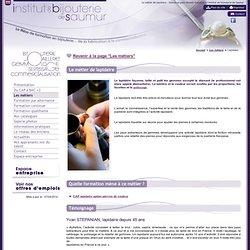 Le métier de lapidaire - l'institut de bijouterie de Saumur