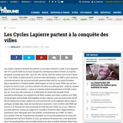 Les Cycles Lapierre partent à la conquête des villes