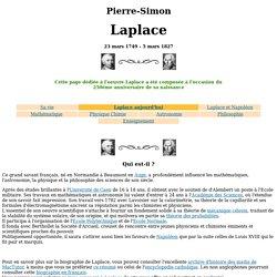 Laplace (Pierre Simon)