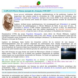 Laplace Pierre Simon