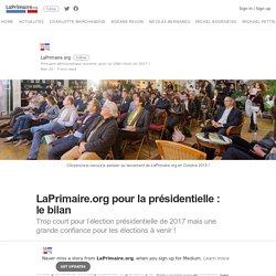 pour la présidentielle : le bilan – LaPrimaire.org