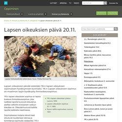 Lapsen oikeuksien päivä 20.11.
