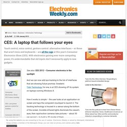 CES: A laptop that follows your eyes - 1/13