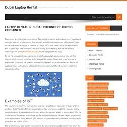 Laptop Rental in Dubai: Internet of Things Explained