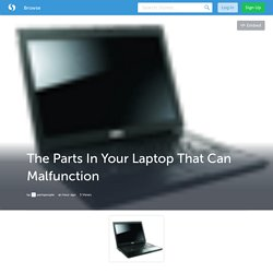 The Parts In Your Laptop That Can Malfunction