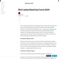 Best Laptop Repairing Course Delhi