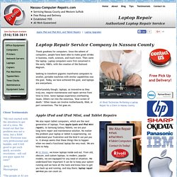 Laptop Repairs Repair Service Company Nassau County NY