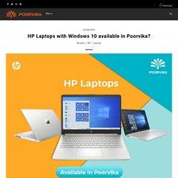 HP Laptops with Windows 10 available in Poorvika? - Poorvika Blog