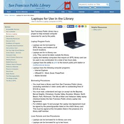 Laptops for Use in the Library