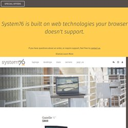 Laptops - System76