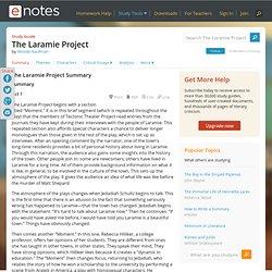 The Laramie Project Study Guide - Moisés Kaufman