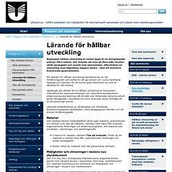 Lärande för hållbar utveckling - utbyten.se