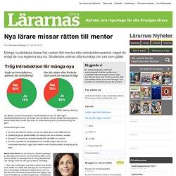 Nya lärare missar rätten till mentor