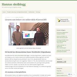 Läraren som ledare i en online-skola #CanvasLMS – Hannas skolblogg