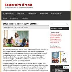 Lärarens roll i kooperativt lärande