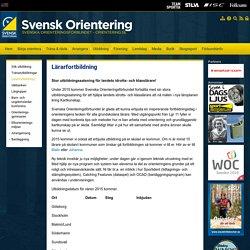 Lärarfortbildning - Svenska Orienteringsförbundet