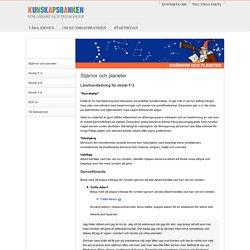 Kunskapsbanken, Stjärnor och planeter (Lärarhandledning skolår F-3)
