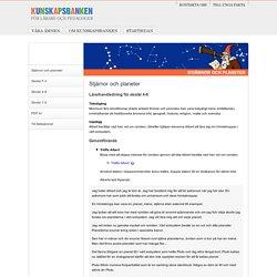 Stjärnor och planeter (Lärarhandledning skolår 4-6)