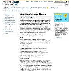 Lärarhandledning Rixdax