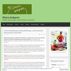 Lärarhandledningar, läshandledningar, arbetsmaterial, extramaterial, läsnycklar – Klara bokprat
