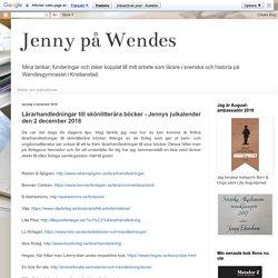 Lärarhandledningar till skönlitterära böcker - Jennys julkalender den 2 december 2018