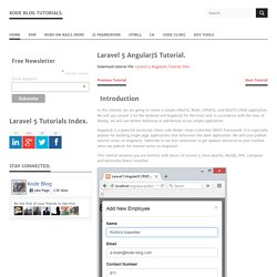 Laravel 5 AngularJS Tutorial