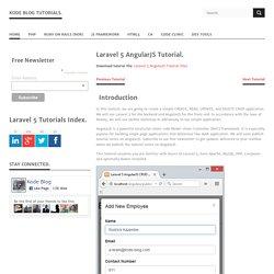 Laravel 5 AngularJS Tutorial