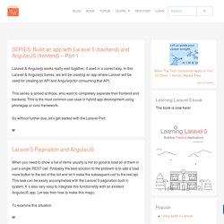 Laravel AngularJS