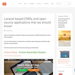 Laravel based CMSs and open source applications that we should know!