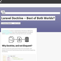 Laravel Doctrine - Best of Both Worlds?